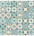 gorgeous seamless pattern white old green moroccan vector image vector image