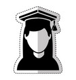 graduate woman avatar character vector image vector image