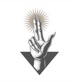 hand in satanic vector image vector image
