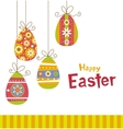 Hanging easter eggs vector image
