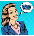Happy Businesswoman Business Lady Surprised vector image vector image