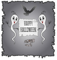 Happy Halloween ghosts and owl with skull vector image vector image