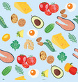 healthy food organic background vector image vector image