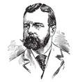 henry cabot lodge vintage vector image vector image