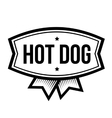 Hot Dog vintage logo vector image vector image