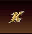 letter k game logo esport gaming vector image vector image