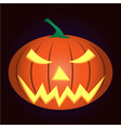 light pumpkin vector image vector image
