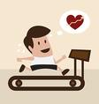 man jogging on treadmill vector image