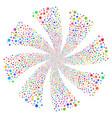 medical emblem fireworks swirl rotation vector image vector image
