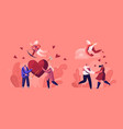 people in romantic relationship couples on date vector image