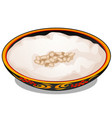 plate with russian traditional ornament with vector image vector image