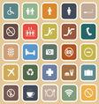 Public flat icons on orange background vector image