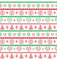 Red and green on the white background Nordic Chris vector image vector image
