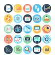 Reports and Analytics Colored Icons 5 vector image