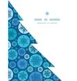 round snowflakes Christmas snowflake vector image vector image