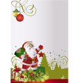 santa text is vector image vector image