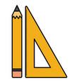 school rule supply with pencil vector image