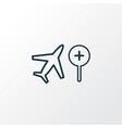 search flight icon line symbol premium quality vector image