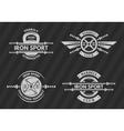 set sports emblems logos symbols vector image vector image
