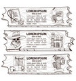 set three banners on theme wild vector image vector image
