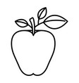 sketch silhouette image apple fruit with stem and vector image vector image