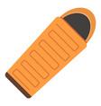 sleeping bag icon flat style vector image vector image