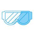snorkel goggles icon vector image