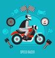speed racer design concept vector image