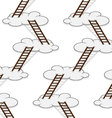 Stairway to clouds seamless pattern vector image vector image