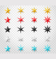 stars set different colors isolated on vector image