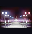 street lights realistic composition vector image vector image