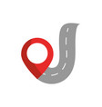 street pointer gps map and navigation vector image