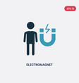 two color electromagnet icon from people concept vector image vector image
