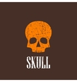 vintage with a skull vector image vector image