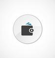Wallet icon 2 colored vector image vector image