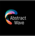 wavy abstract logo smooth gradients and vector image vector image