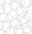 Wireframe 3D blocks in a seamless pattern vector image vector image