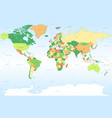 world map with classic colors vector image vector image
