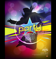 Girl jumping colorful party design vector image