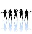 female singer vector image