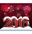 2016 Lights Bokeh Background vector image vector image