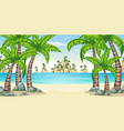 a tropical coastal landscape vector image vector image