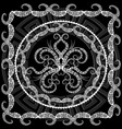 Abstract black and white greek key meander vector image
