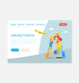 airline tickets service flight tickets booking vector image