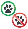 Animal permission signs set vector image
