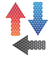 arrow background arrow halftone background vector image vector image