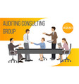 auditing consult group banner vector image vector image