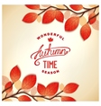 Autumn card design vector image vector image
