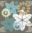 autumn seamless pattern with flowers vector image
