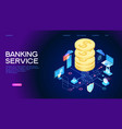 banking service web banner vector image vector image